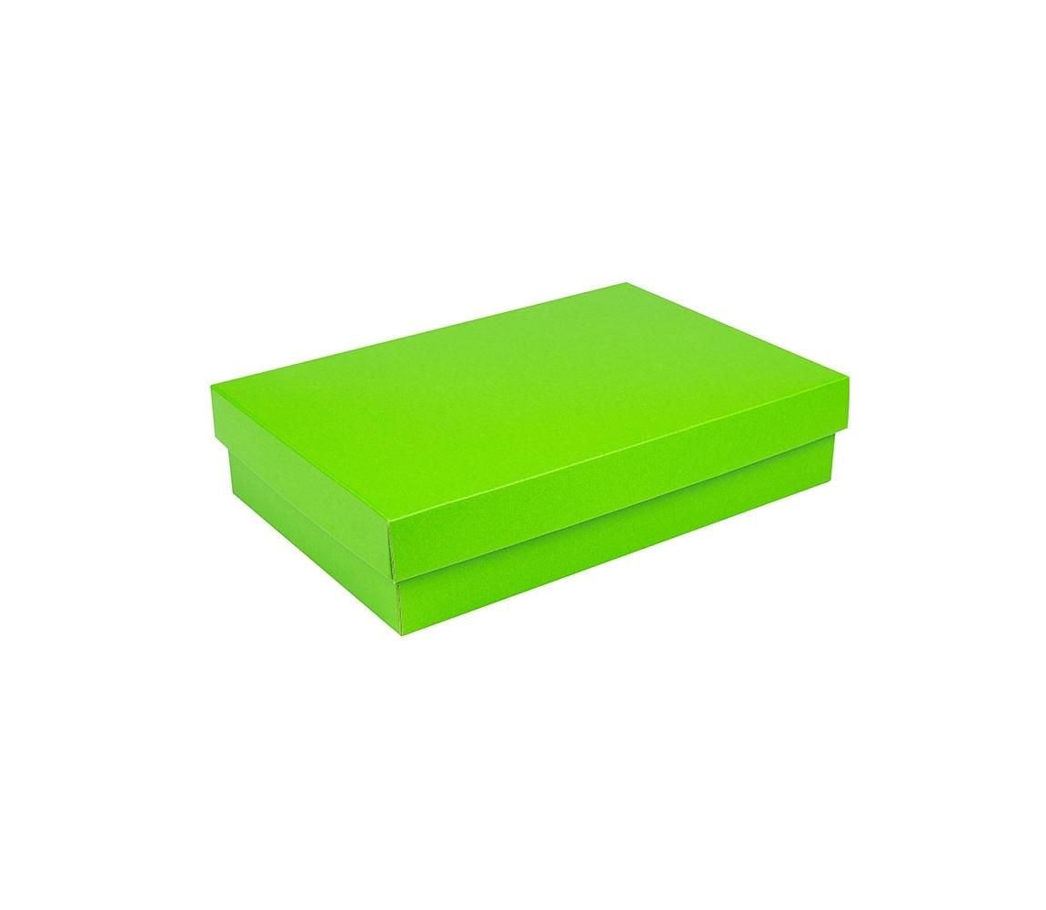 G.N.P. Dárková krabice s víkem 380x270x90/35 mm, zelená matná