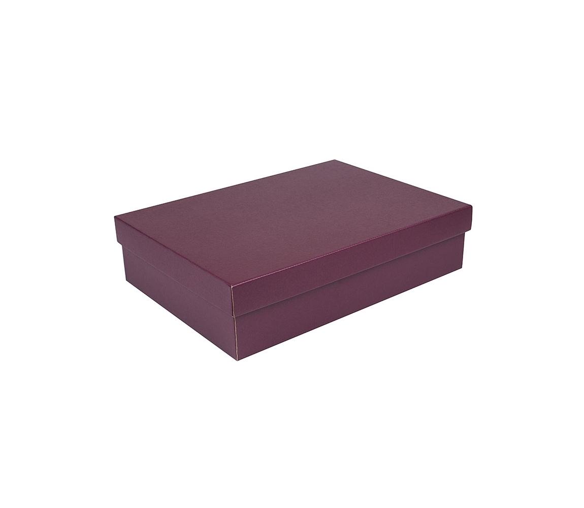 G.N.P. Dárková krabice s víkem 405x290x100/35 mm, vínová matná