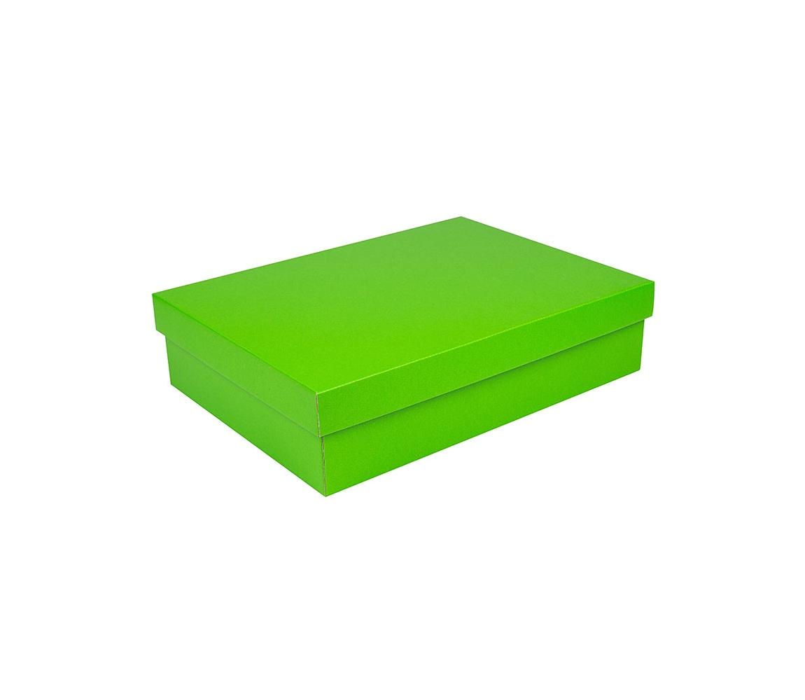 G.N.P. Dárková krabice s víkem 405x290x100/35 mm, zelená matná