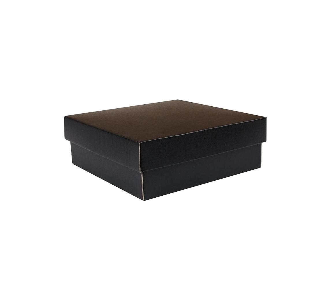 G.N.P. Dárková krabička KOMPLET 200x200x70/35, černo šedá matná