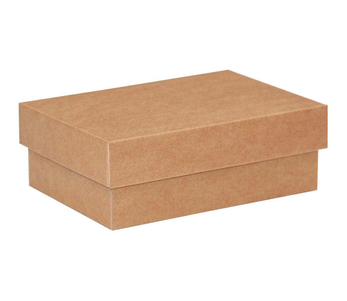 Dárková krabička s víkem 150x100x50 mm, hnědá-kraftová