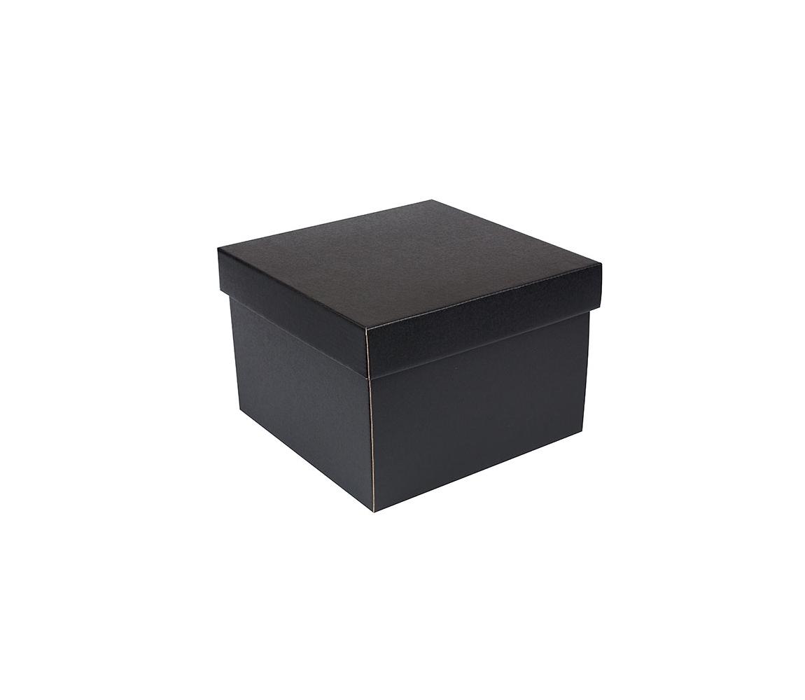 G.N.P. Dárková krabička s víkem 200x200x140/35 mm, černo šedá matná