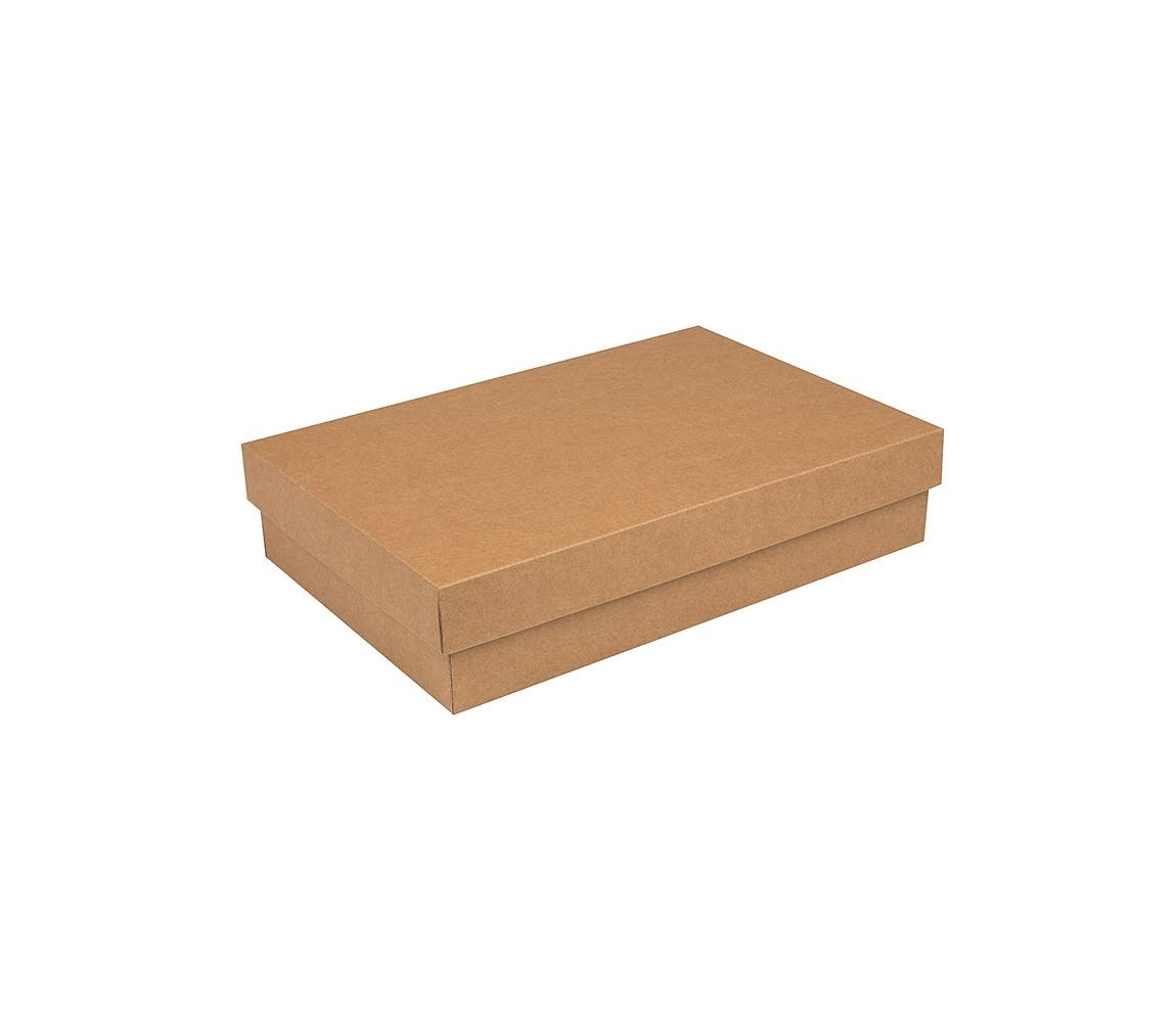 G.N.P. Dárková krabička s víkem 355x250x80/35 mm, kraftová