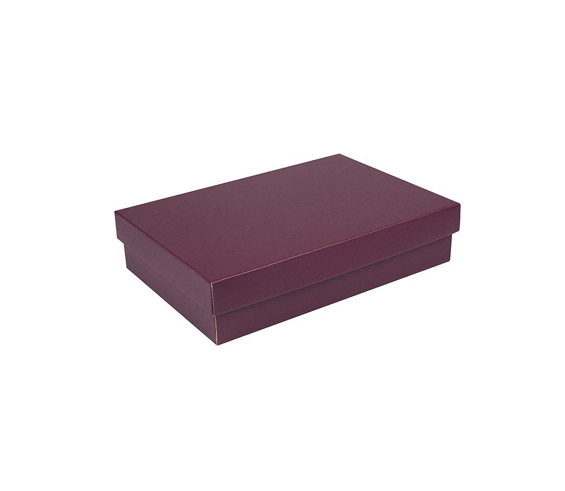 G.N.P. Dárková krabička s víkem 355x250x80/35 mm, vínová matná