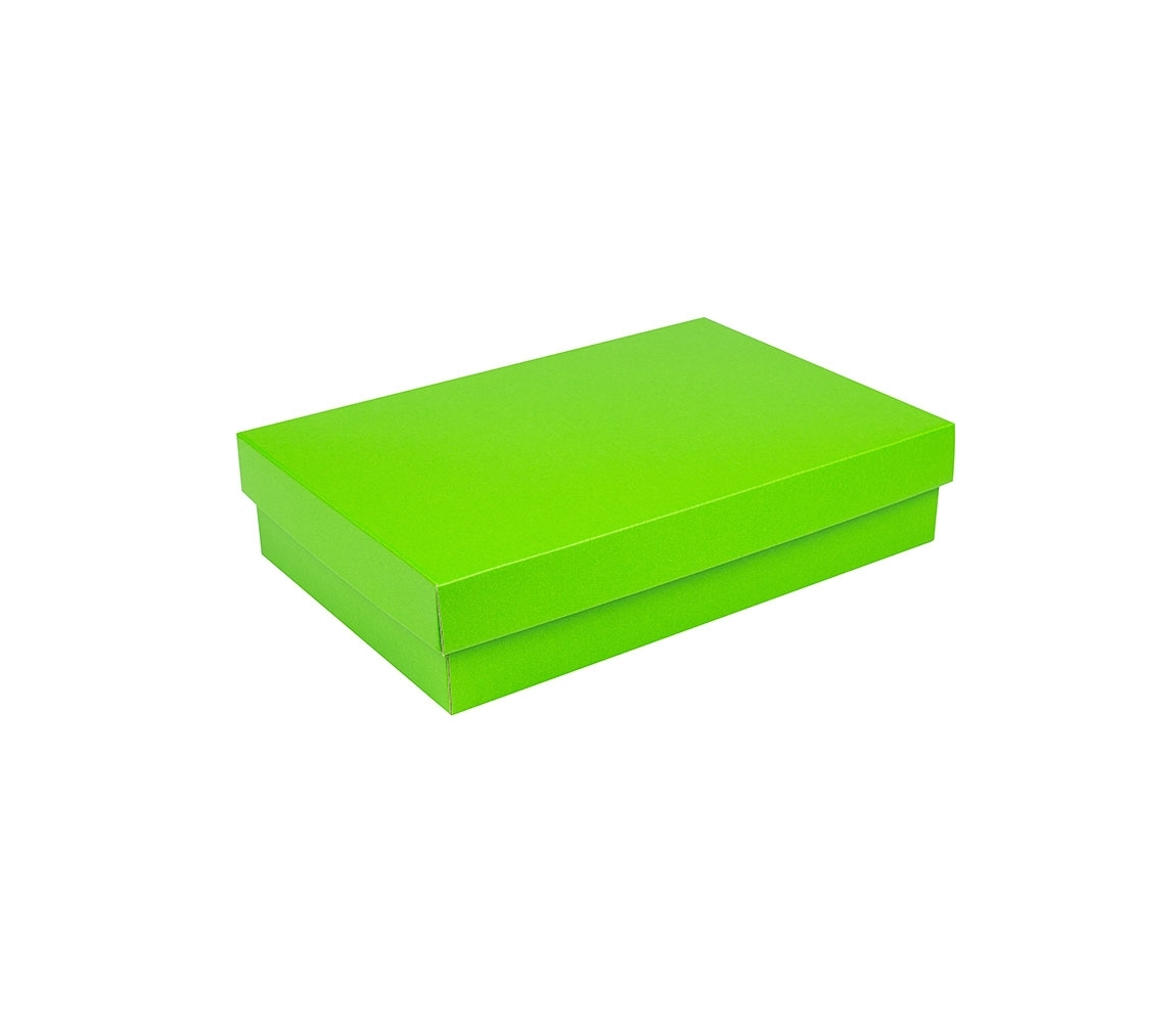 G.N.P. Dárková krabička s víkem 355x250x80/35 mm, zelená matná
