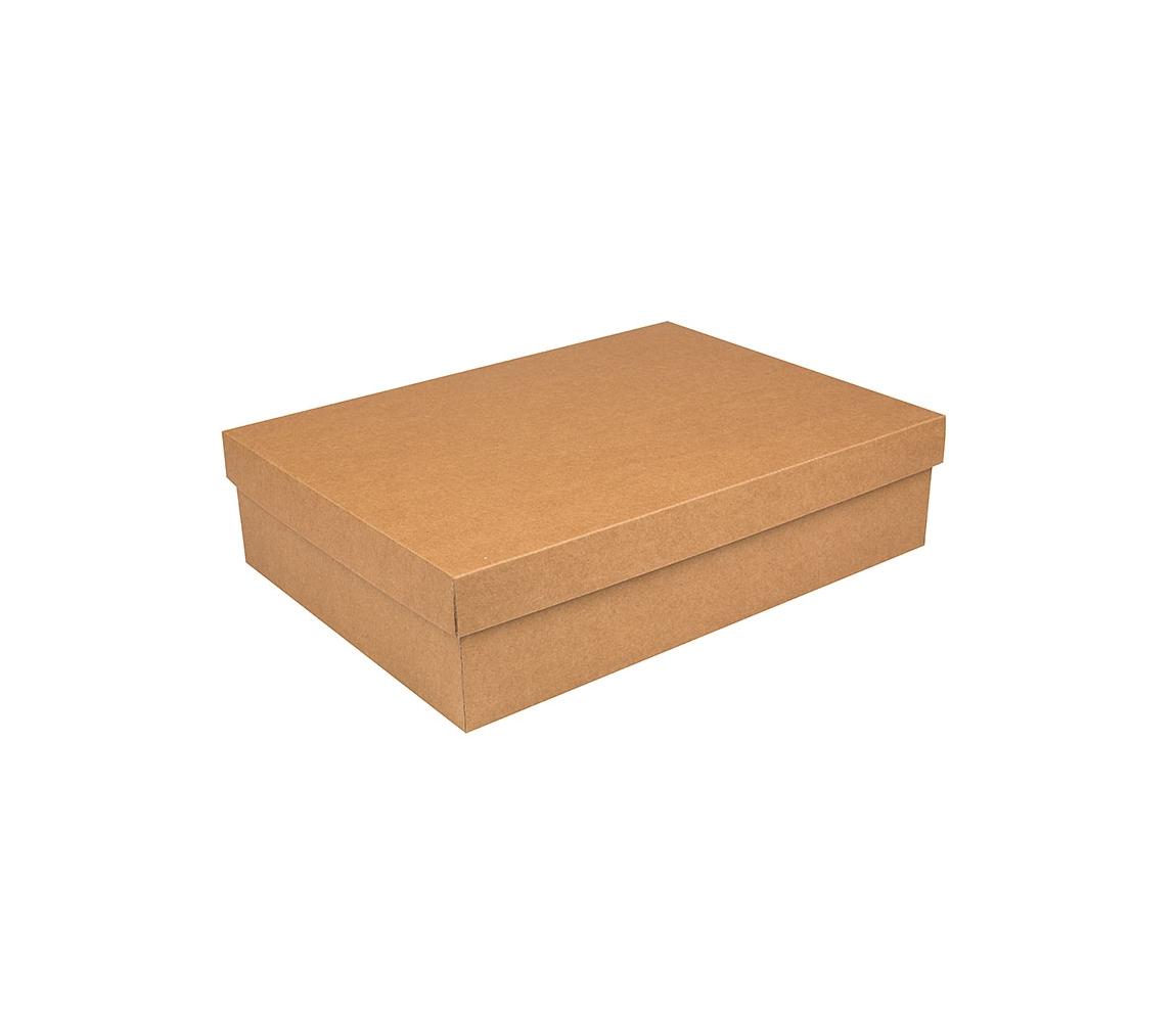G.N.P. Dárková krabička s víkem 405x290x100/35 mm, kraftová
