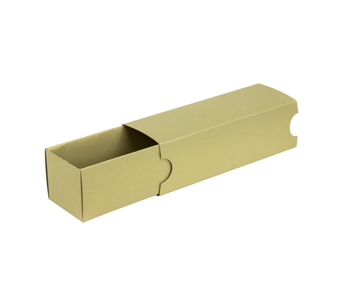 G.N.P. Krabička na makronky zlatá s návlekem 180x50x50mm