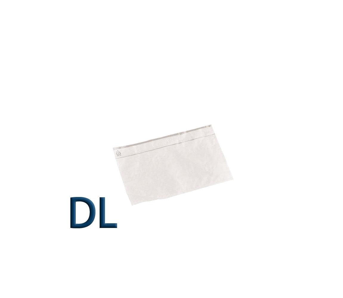 Obálka průhledná samolepicí DL, pro doklady formátu DL