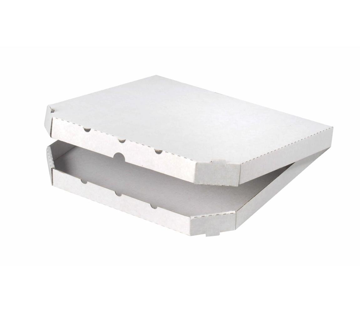 G.N.P. Pizza krabice 320x320x30mm, bez potisku, vysekávaná
