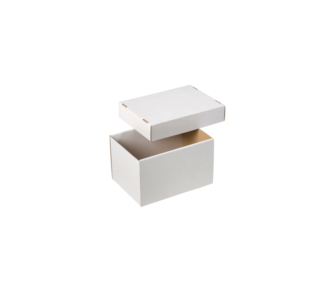 G.N.P. úložná krabice dno+víko 203x143x125mm, BÍLÁ