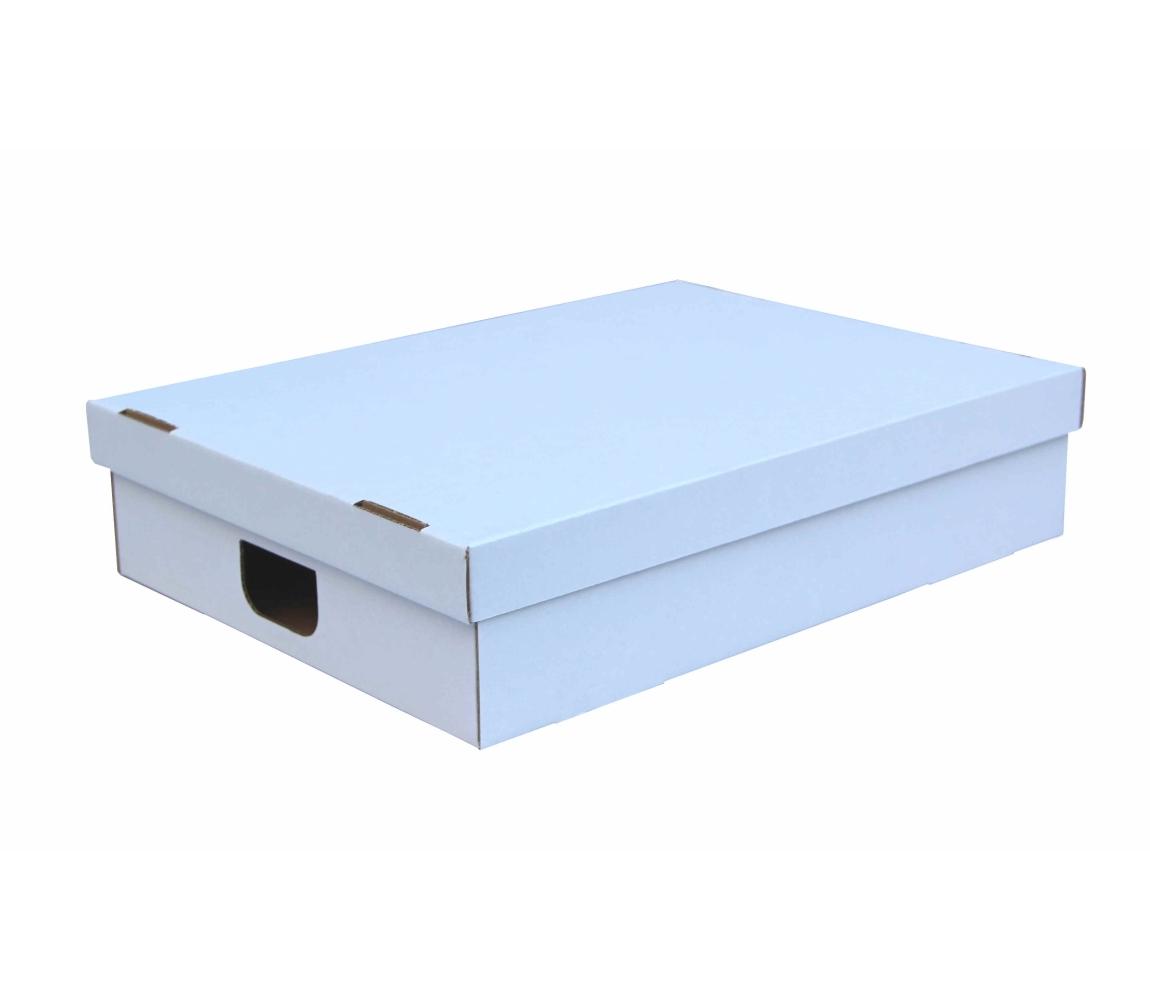 G.N.P. Úložná krabice s víkem 530x380x120 mm, BÍLÁ