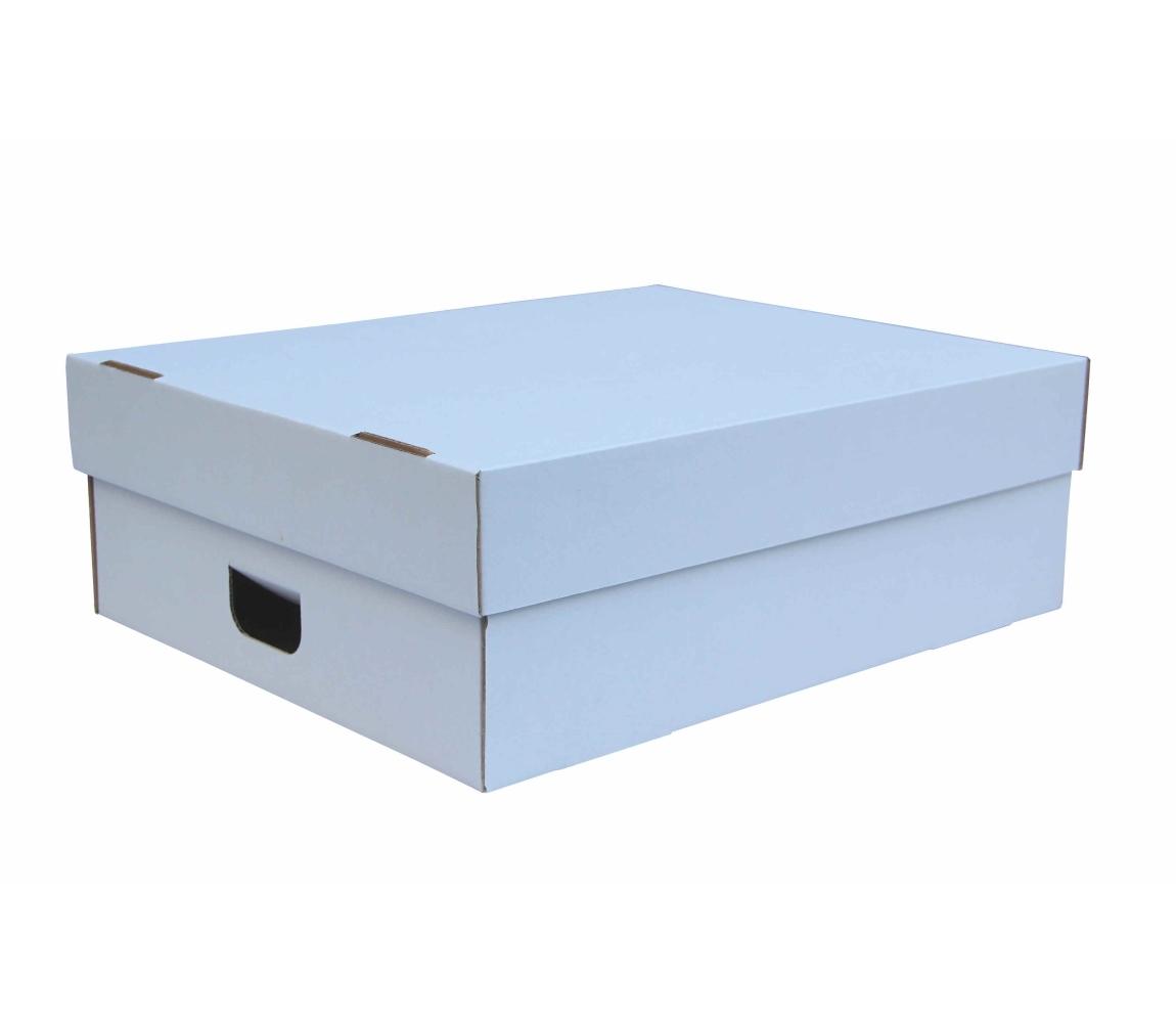 G.N.P. Úložná krabice s víkem 550x440x190 mm, BÍLÁ