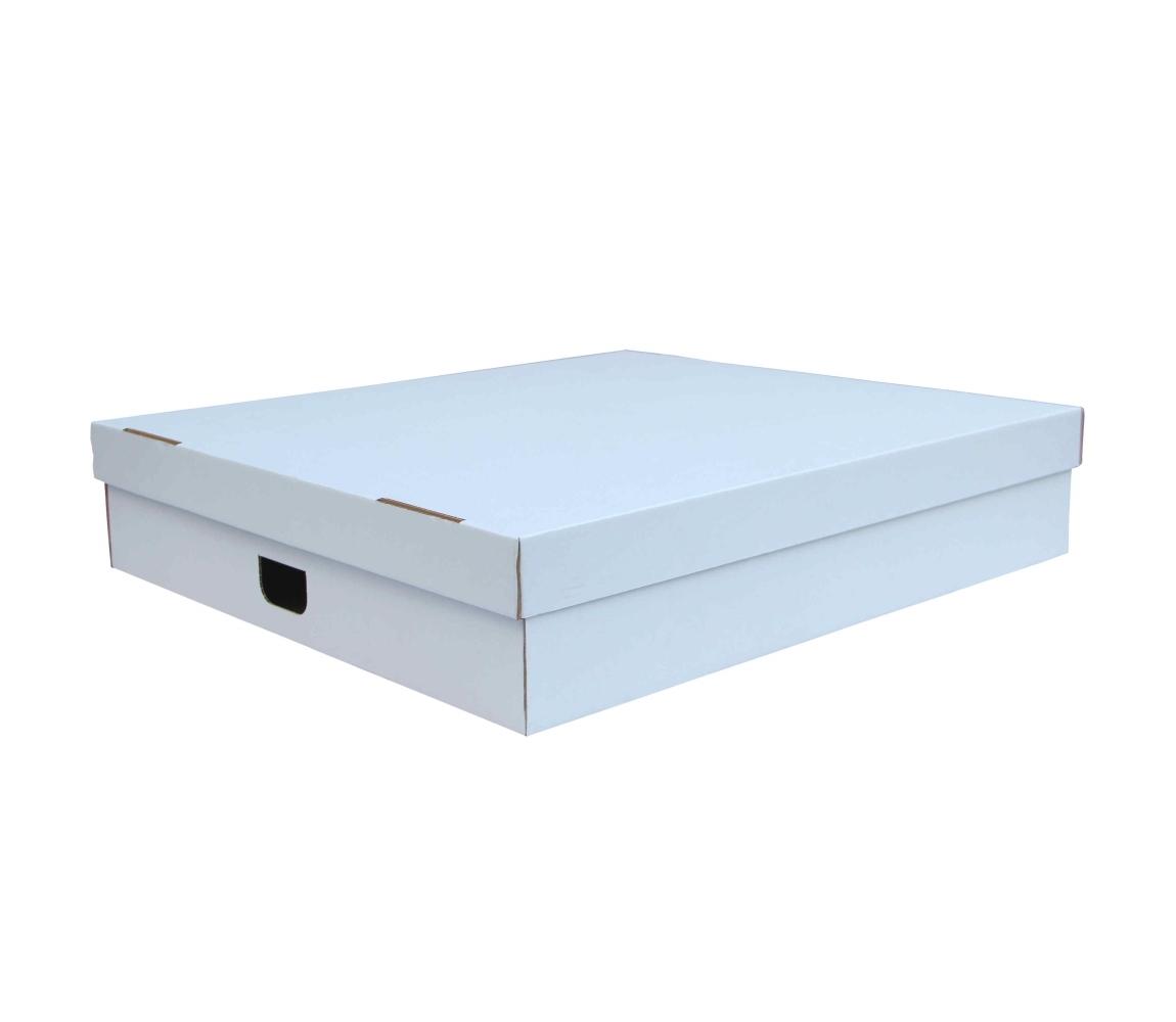 G.N.P. Úložná krabice s víkem 770x700x160 mm, BÍLÁ