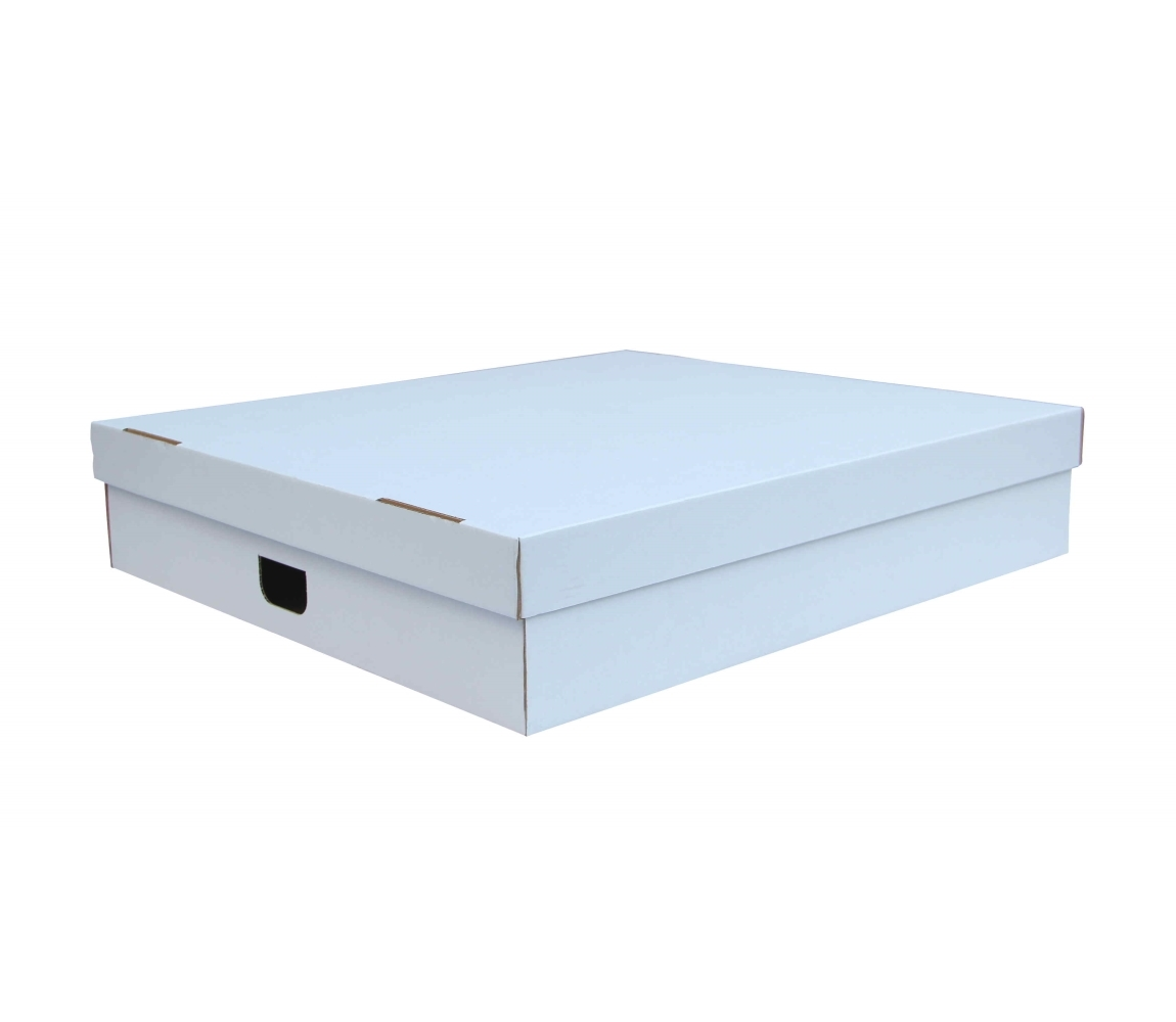 G.N.P. Úložná krabice s víkem 860x550x160 mm, BÍLÁ