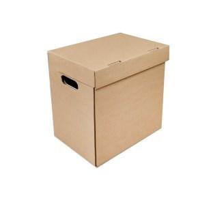 Archivační krabice A3 420x325x310 mm, s víkem a bočními otvory