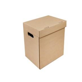 Archivační krabice A4 300x210x310 mm, s víkem a bočními otvory
