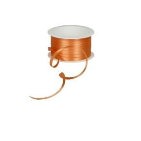 Atlasová stuha oranžová, šíře 5 mm, délka 20 m