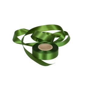 Atlasová stuha zelená, šíře 24 mm, délka 20 m