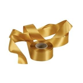 Atlasová stuha zlatá, šíře 40 mm, délka 20 m