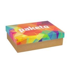 Dárková krabice 350x250x100/40 mm, celopotisk víka, kraftová
