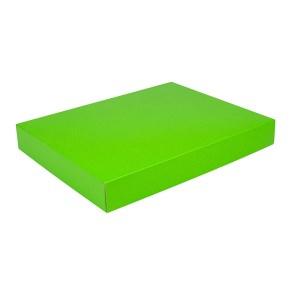 Dárková krabice na košile 380x285x50/35 mm, zelená matná