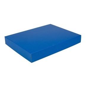 Dárková krabice na košile 380x285x50/50 mm, modrá matná