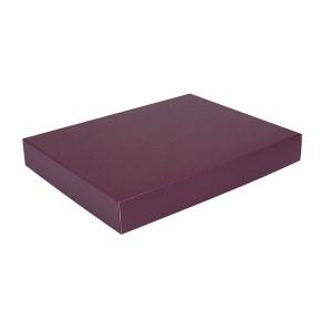 Dárková krabice na košile 380x285x50/50 mm, vínová matná