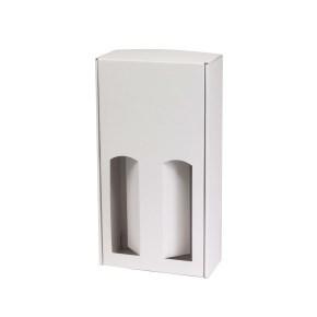 Dárková krabice na víno 175x350x85 mm, 2 x 0,75 l, bílá