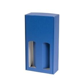 Dárková krabice na víno 175x350x85 mm, 2 x 0,75 l, modrá