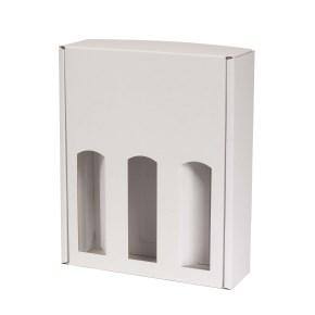Dárková krabice na víno 265x350x85 mm, 3 x 0,75 l, bílá