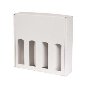 Dárková krabice na víno 355x350x85 mm, 4 x 0,75 l, bílá