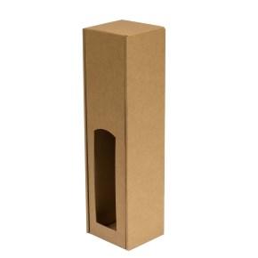 Dárková krabice na víno 85x350x85 mm, 1 x 0,75 l, hnědá - kraft