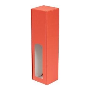 Dárková krabice na víno 85x350x85 mm, 1 x 0,75 l, korálová