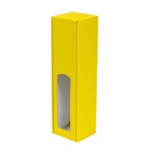 Dárková krabice na víno 85x350x85 mm, 1 x 0,75 l, žlutá