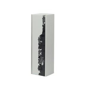 """Dárková krabice na víno šedá, vzor """"hrozny-láhev"""", 85x333x85"""