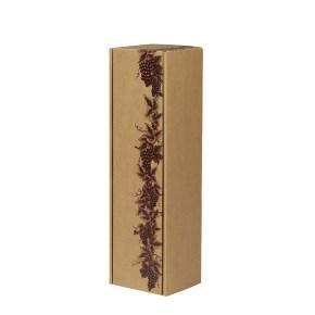"""Dárková krabice na víno vzor """"Réva"""", 85x333x85 mm"""