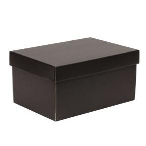 Dárková krabice s víkem 300x200x150/40 mm, černá