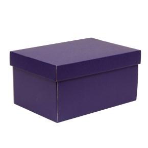 Dárková krabice s víkem 300x200x150/40 mm, fialová