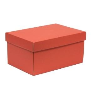 Dárková krabice s víkem 300x200x150/40 mm, korálová
