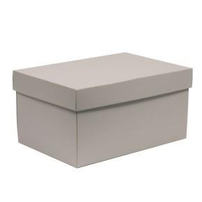 Dárková krabice s víkem 300x200x150/40 mm, šedá