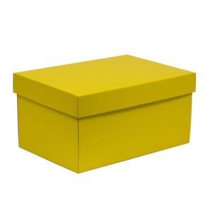 Dárková krabice s víkem 300x200x150/40 mm, žlutá