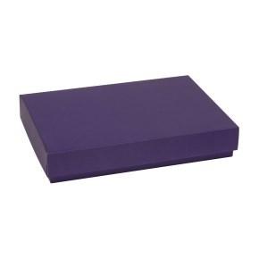 Dárková krabice s víkem 300x200x50/40 mm, fialová