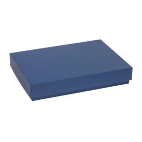 Dárková krabice s víkem 300x200x50/40 mm, modrá