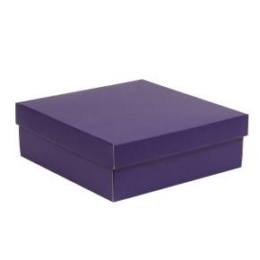 Dárková krabice s víkem 300x300x100/40 mm, fialová