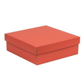 Dárková krabice s víkem 300x300x100/40 mm, korálová