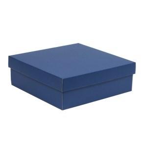 Dárková krabice s víkem 300x300x100/40 mm, modrá