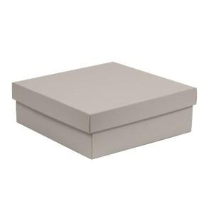 Dárková krabice s víkem 300x300x100/40 mm, šedá