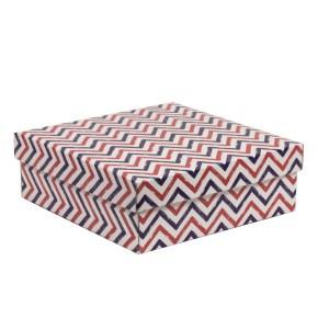 Dárková krabice s víkem 300x300x100/40 mm, VZOR - CIK CAK fialová/korálová