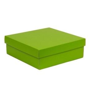 Dárková krabice s víkem 300x300x100/40 mm, zelená