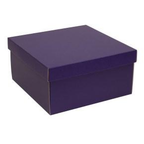 Dárková krabice s víkem 300x300x150/40 mm, fialová